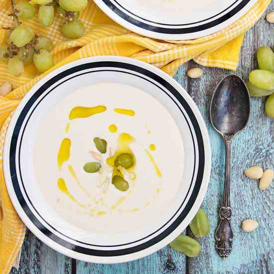 Spanish Cold Almond - Garlic Soup