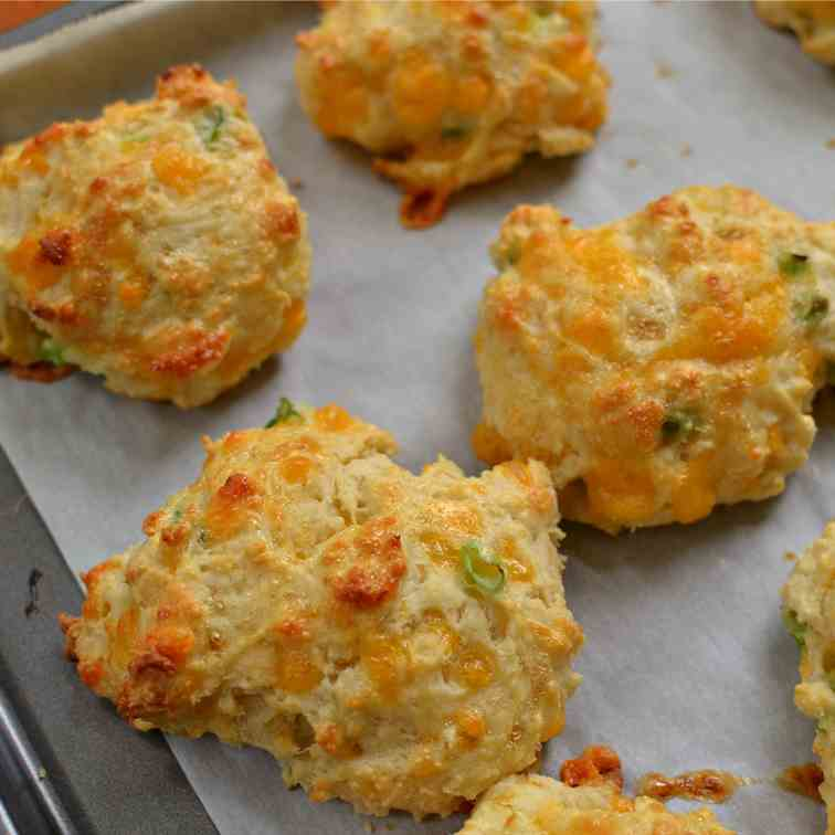 Cheddar Biscuits with Chive Butter