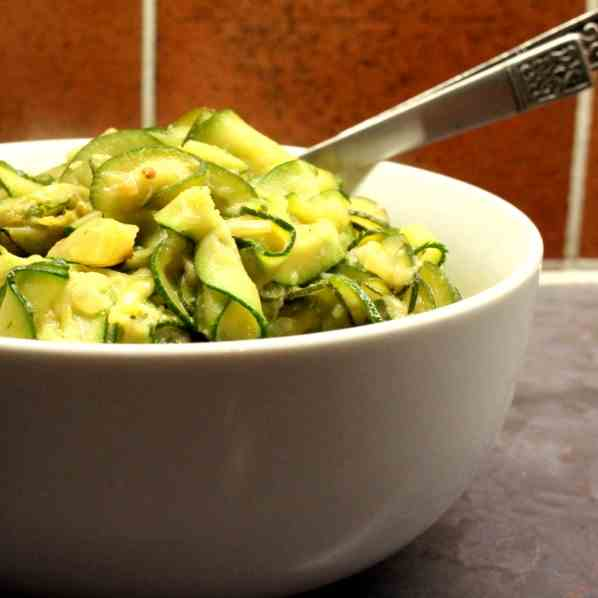 Zucchini, fried in Butter and Olive Oil