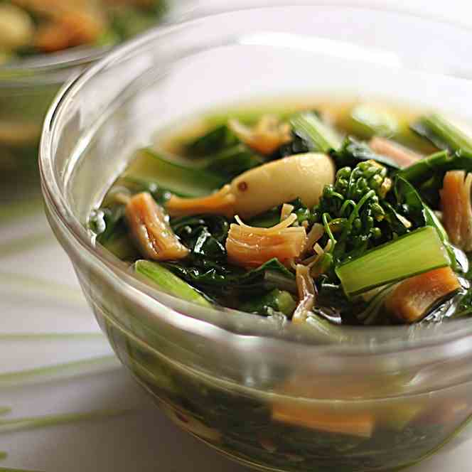 Hong Kong Choy Sum with dried scallops