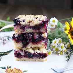 Blueberry Tarragon Crumble Bars