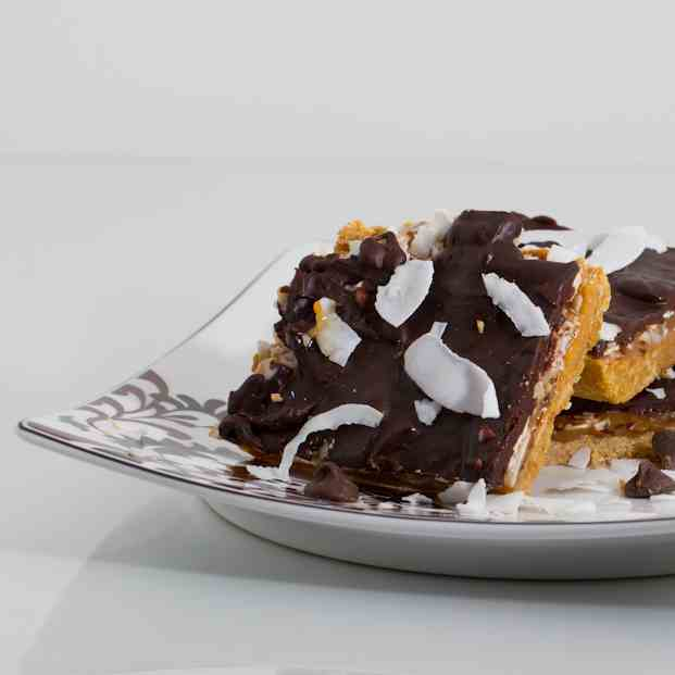 Skinnified Samoa Cookie Bars