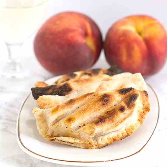 Grilled Peach Pies