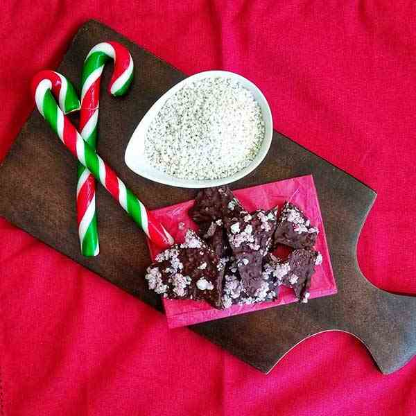 Festive Peppermint Crunch Chocolate