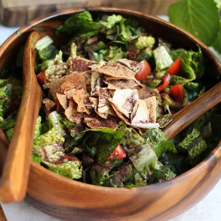 pita and sumac fattoush
