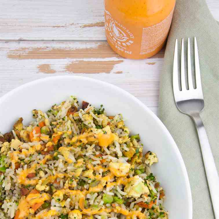 Vegan Fried Rice with -Egg-