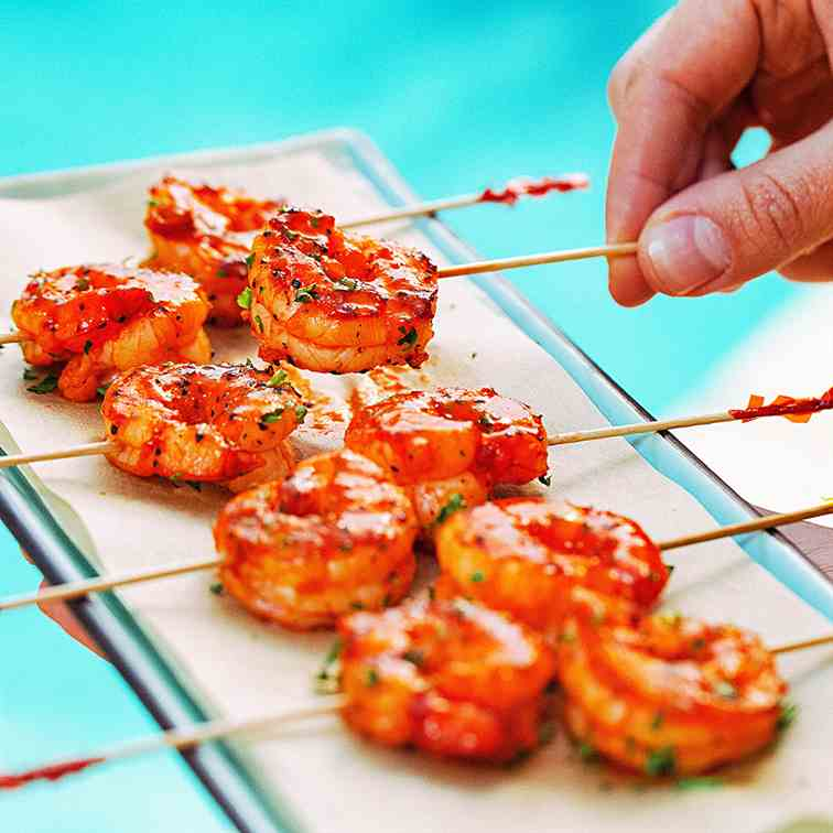 Chili Butter Shrimp Kabob
