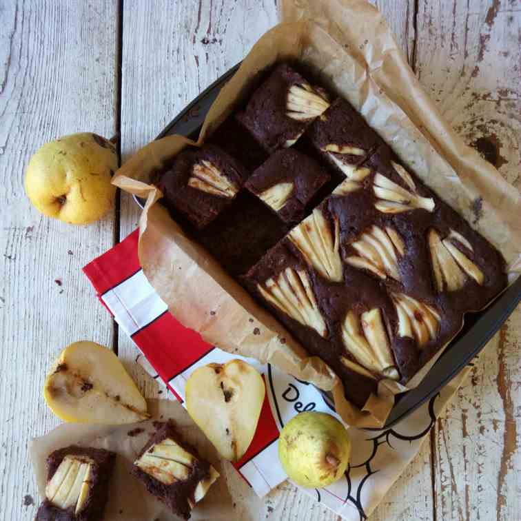 Pear cake with nutella