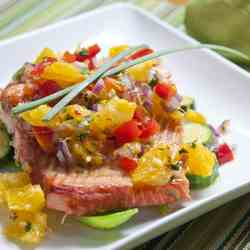 Salmon with Ginger Orange Relish
