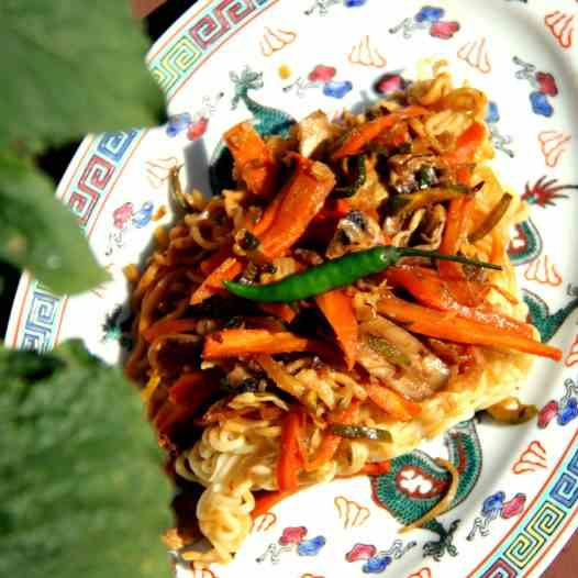 Chinese fried Noodles from Andrea