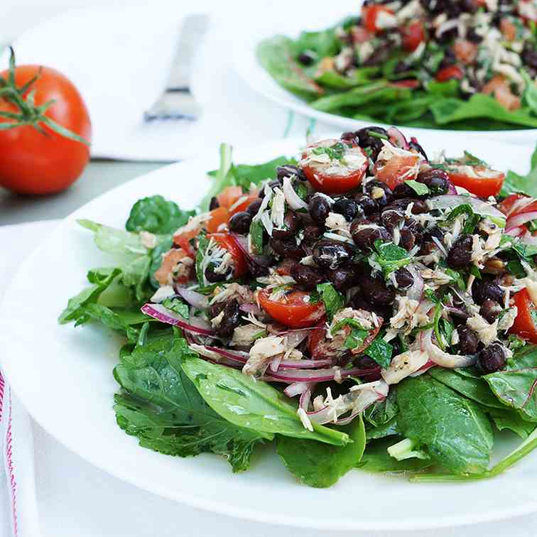 Black Bean, Tuna and Tomato Salad