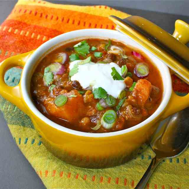 Black Bean Soup with Butternut Squash