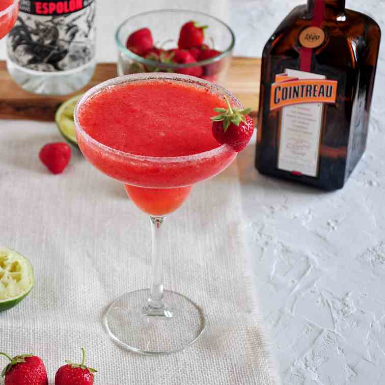 The Best Frozen Strawberry Margarita