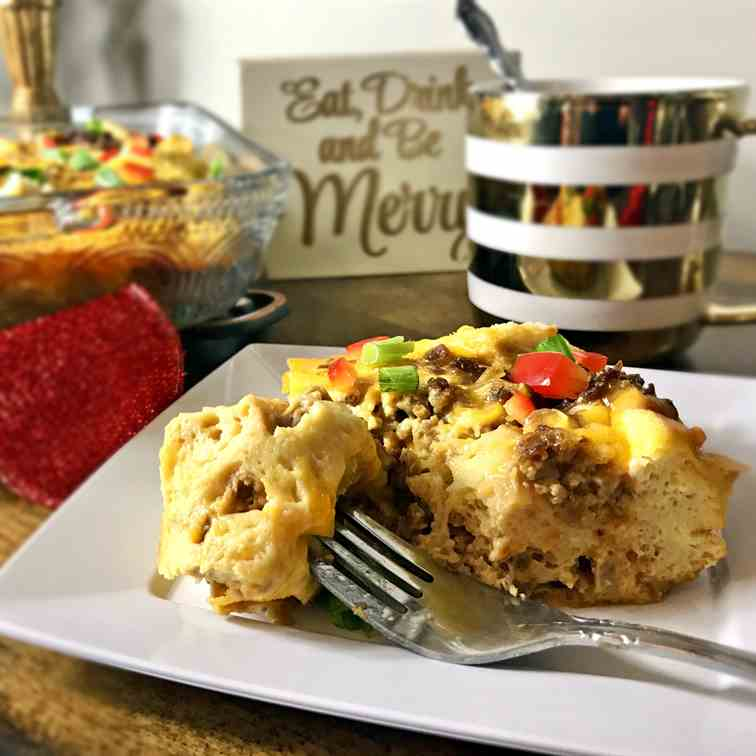 Vegetarian Overnight Breakfast Casserole