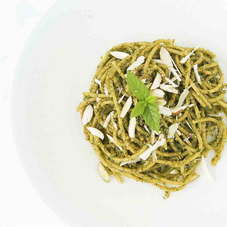 Mint and almond pesto