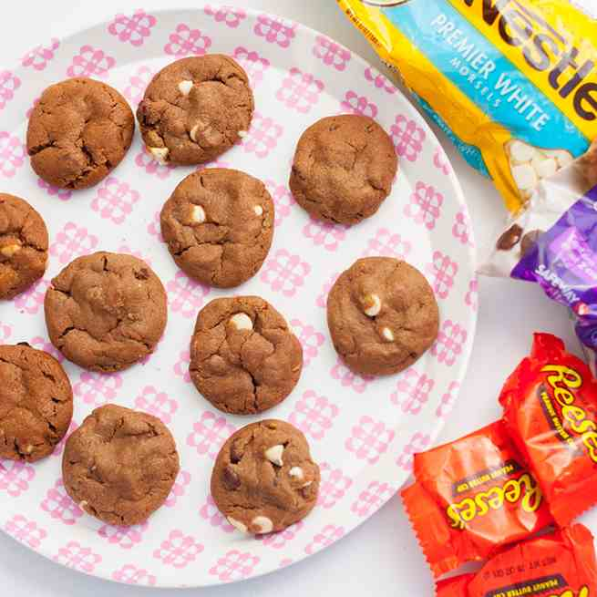 White Chocolate Peanut Reese's Cookies