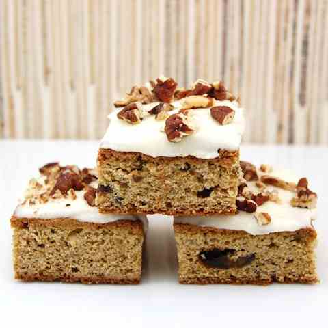 Roasted Banana Bars