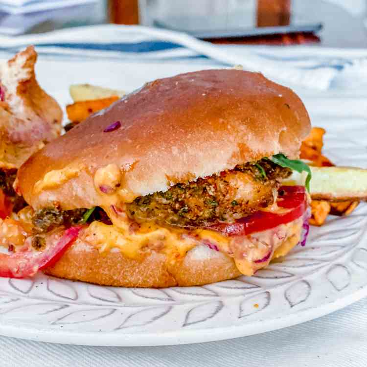 Blackened Fish Sandwich with Aioli