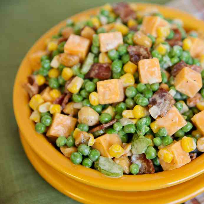 "Easy ""Peas-y"" Cheesy Salad"