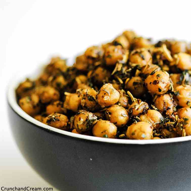 Spicy Italian Roasted Chickpeas