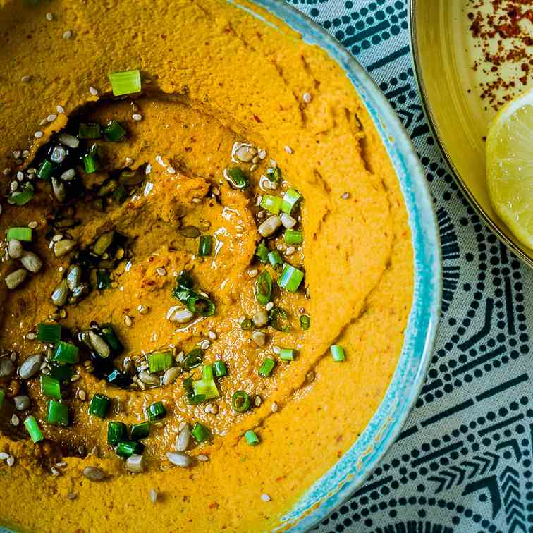 Spicy Carrot Ginger Hummus