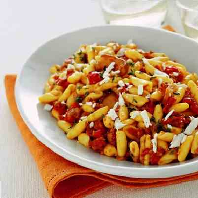 Cavatelli Pasta with Sun Dried Tomatoes