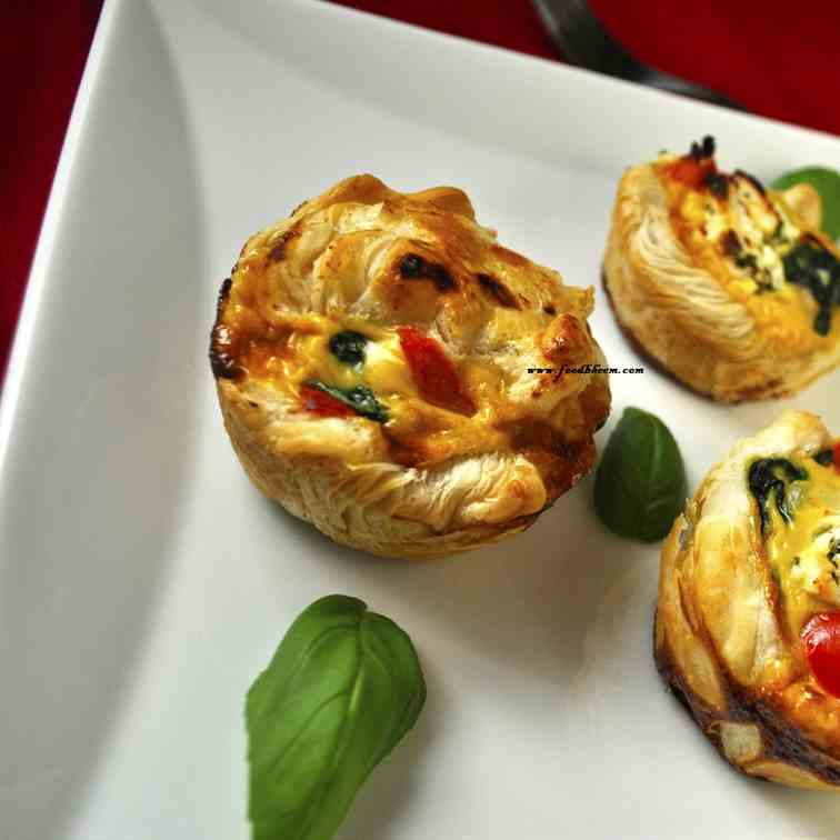 Vegetable Puff Pastry Muffins Recipe