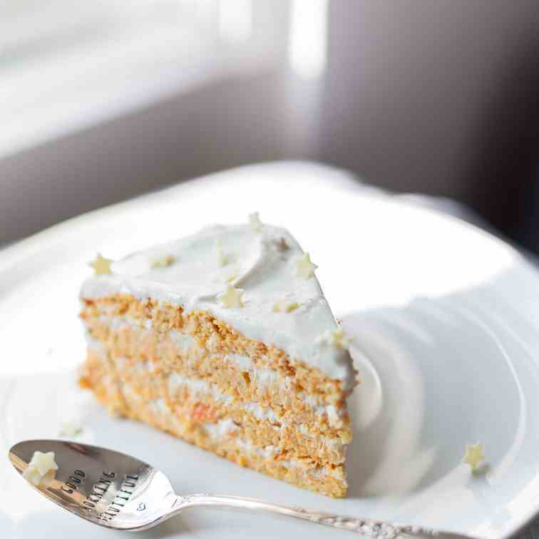 Oil-Free Protein Carrot - Coconut Cake