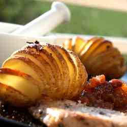 Hasselback Potatoes & Apple Chutney