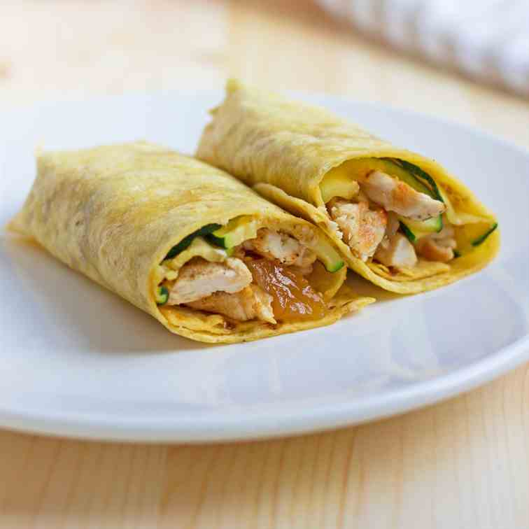 Chicken & Mango Chutney Wraps