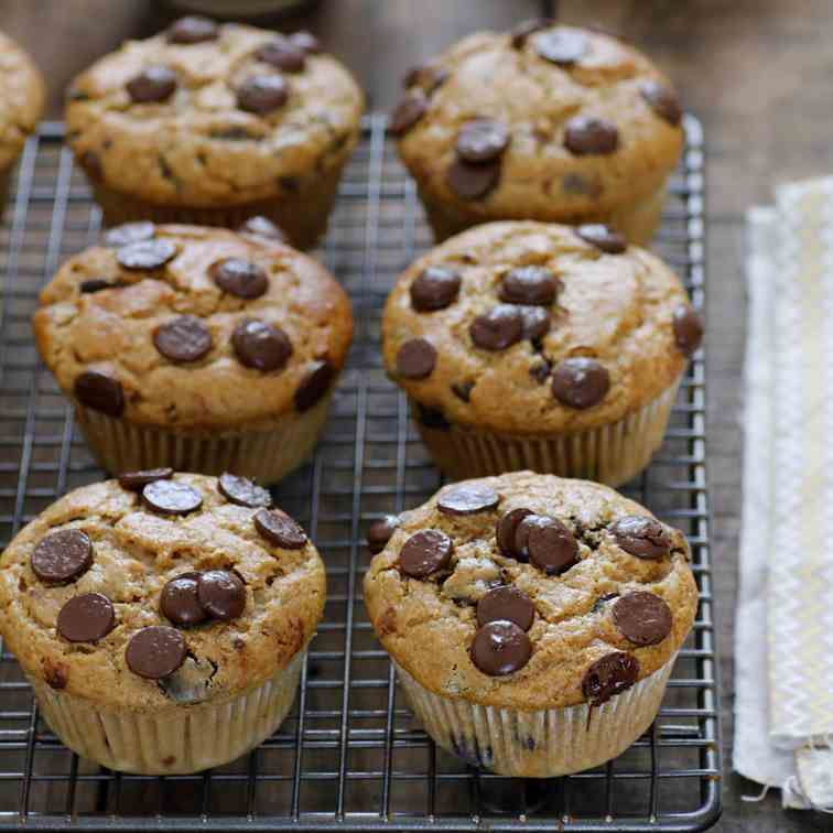 Chocolate Chip, Coffee and Praline Muffins