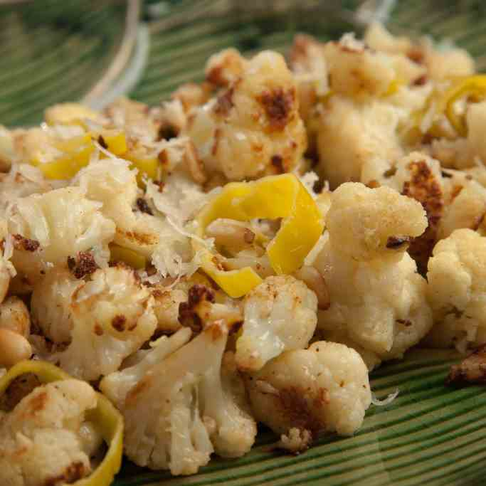 Cheesy Cauliflower with Pepperoncini