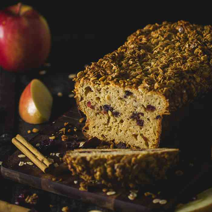 Apple and Cranberry Crisp Loaf