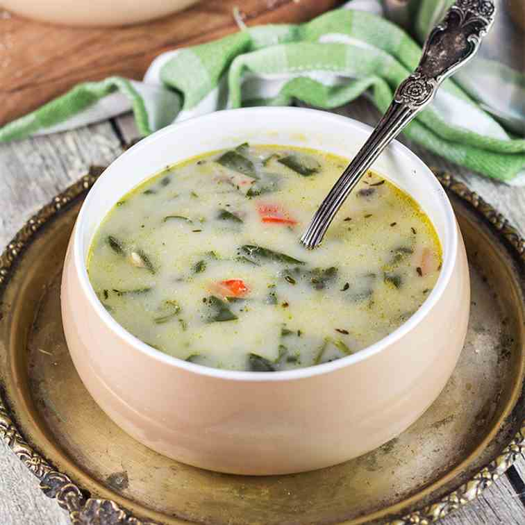 Creamy Chicken Florentine Soup