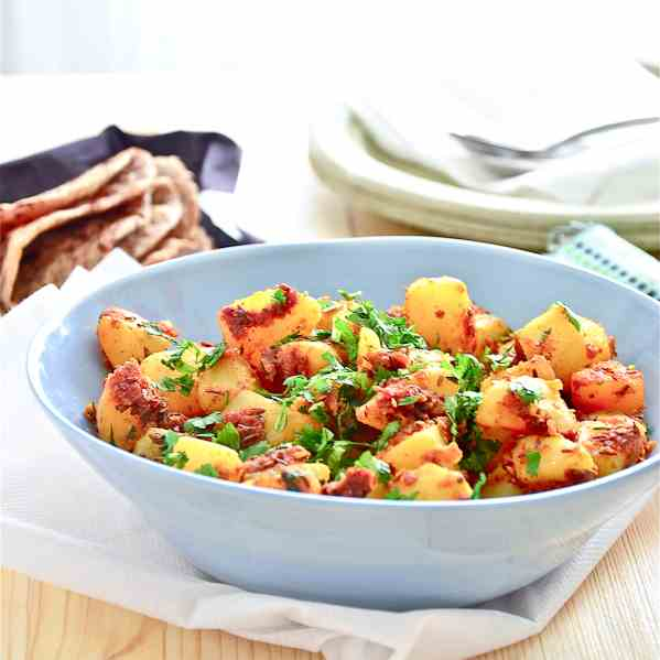 Potatoes cooked with Cumin
