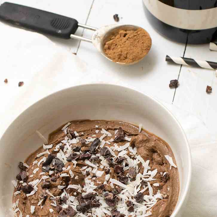 Simple Chocolate Protein Pudding
