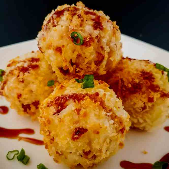 Cheesy Bacon and Rice Croquettes