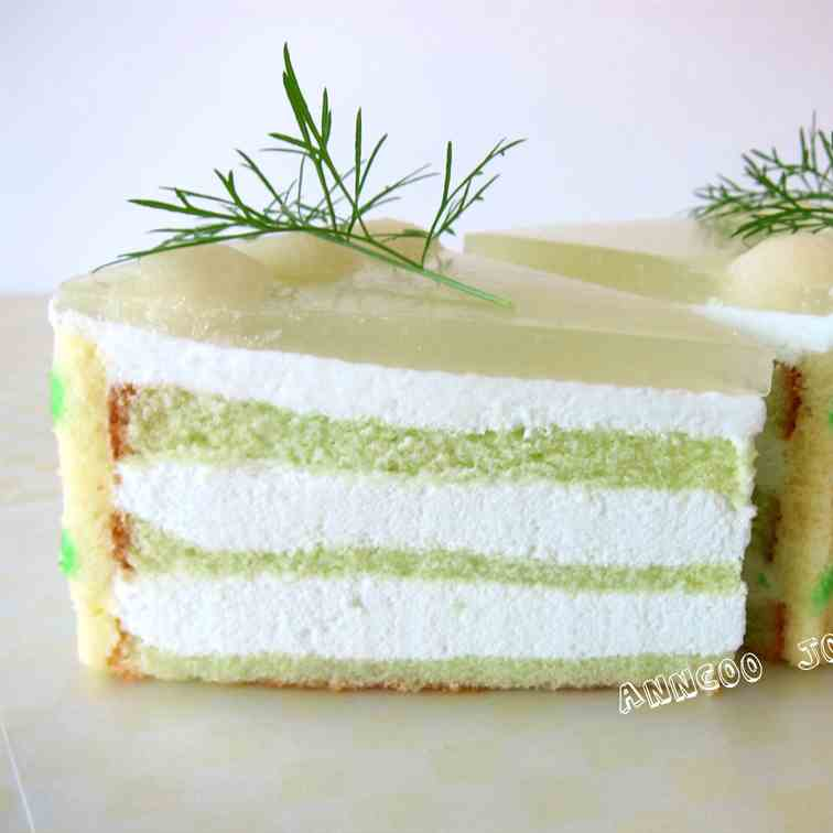 Honeydew Mousse Cake