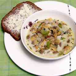"Simple Clam ""Chowder""."