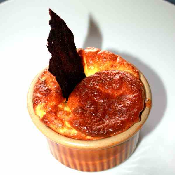 Herb Cheese Souffle with Vegetable Spread