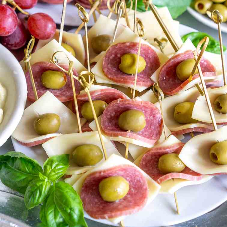 Easy Salami - Cheese Appetizer