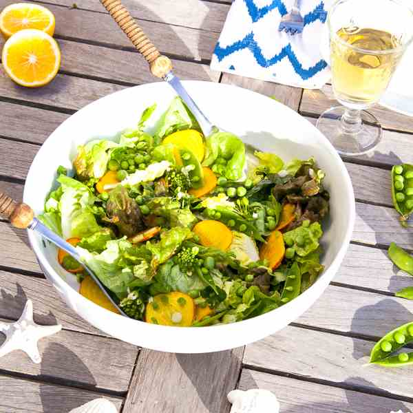 Spring Salad with Lemon Vinaigrette