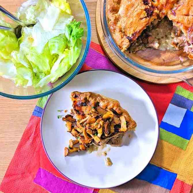 pork and wild mushroom pie