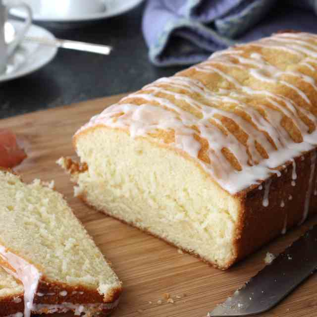 Glazed Pink Grapefruit Quick Bread