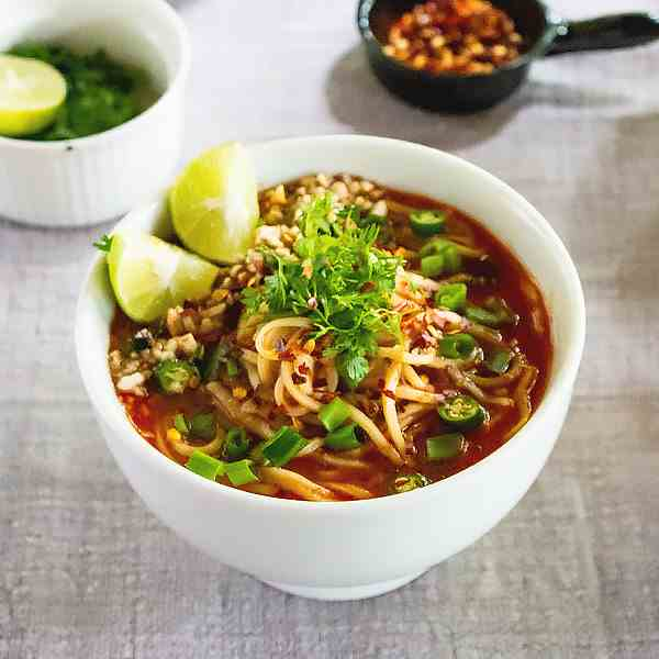 Spicy Thai Noodle Soup