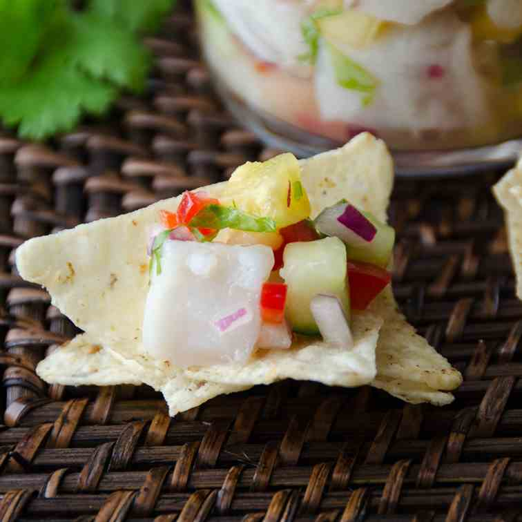 snapper and pineapple ceviche