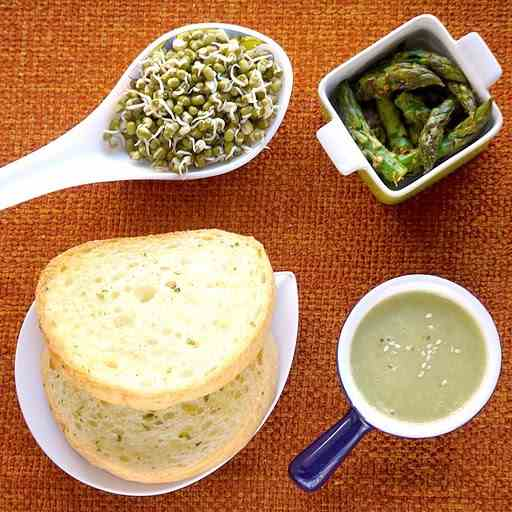Asparagus Soup with Lemon Sauteed Tips