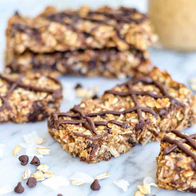 Peanut Butter - Coconut Granola Bars