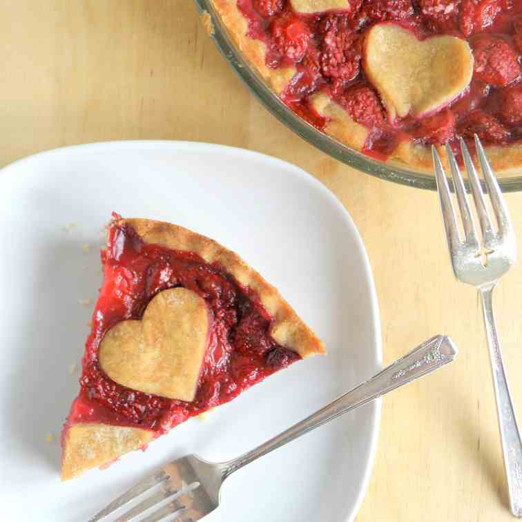 Red Berry Pie {Vegan}