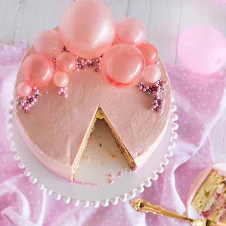 Pink Bubble Cake